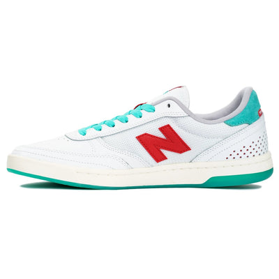New Balance Numeric 440 Tom Knox Edition - White with Red and Teal (TKX)