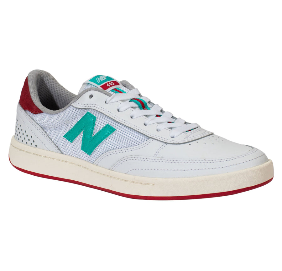 New Balance Numeric 440 Tom Knox Edition - White/Teal/Red (TOM)
