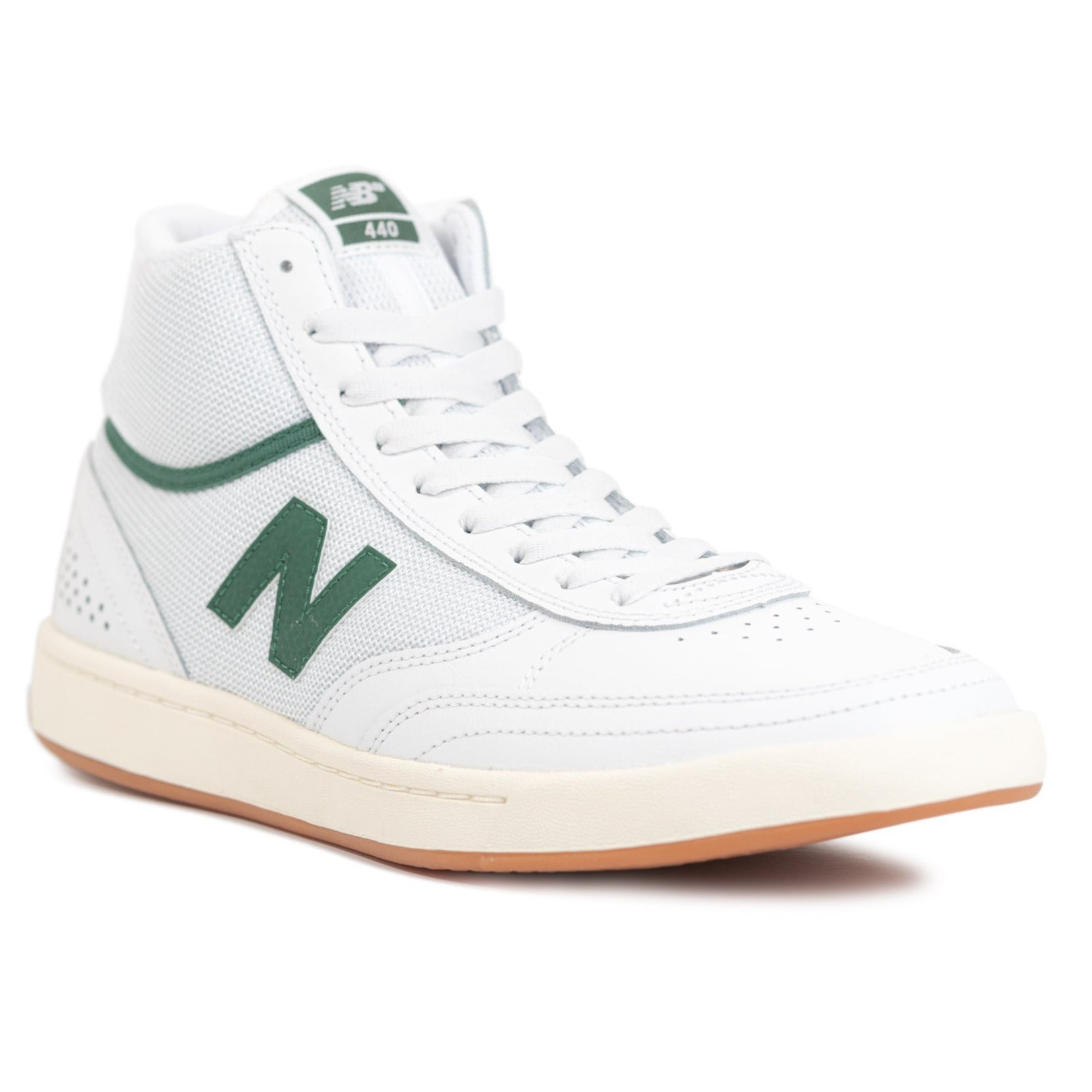 New Balance Numeric 440 High - White with Green (HWG)