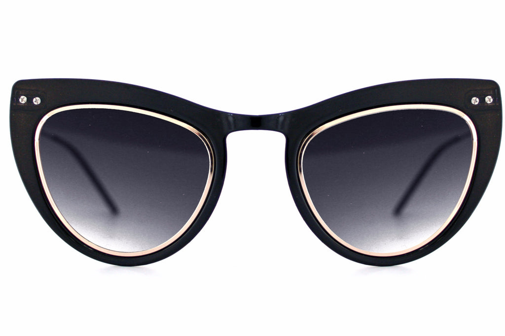 Spitfire Outward Urge Sunglasses - Black/Gold/Black