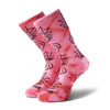Primitive X Rick & Morty Crew Socks - Pink Tie Dye