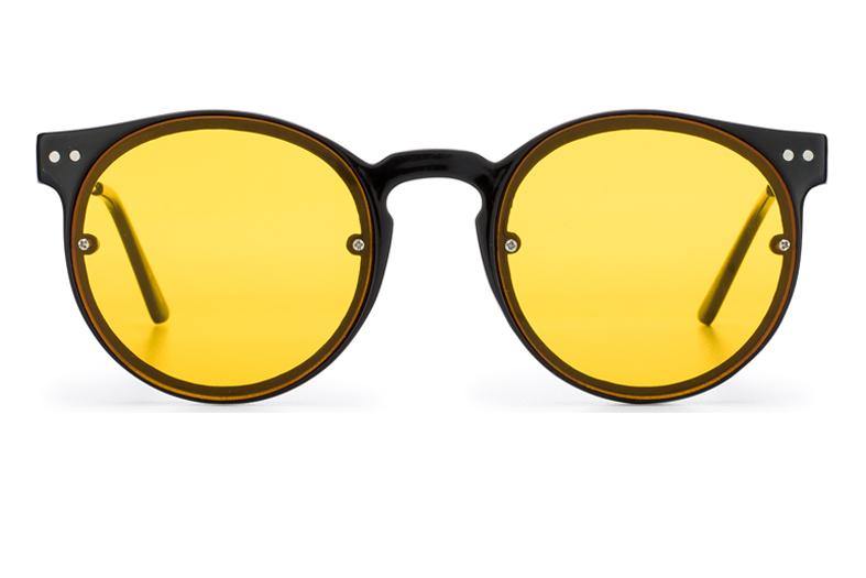 Spitfire Post Punk Sunglasses - Black/Yellow
