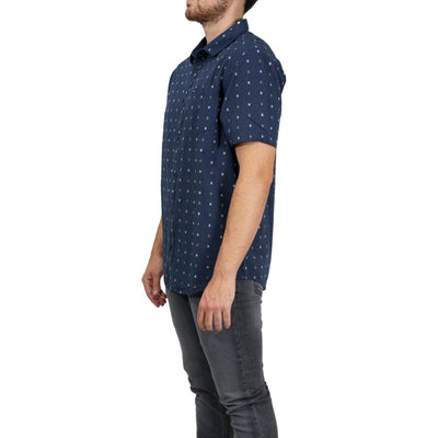 RVCA Aye Kat Button-Up Shirt - China Blue