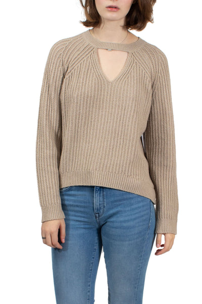 RVCA Case Knit Keyhole Sweater - Oatmeal