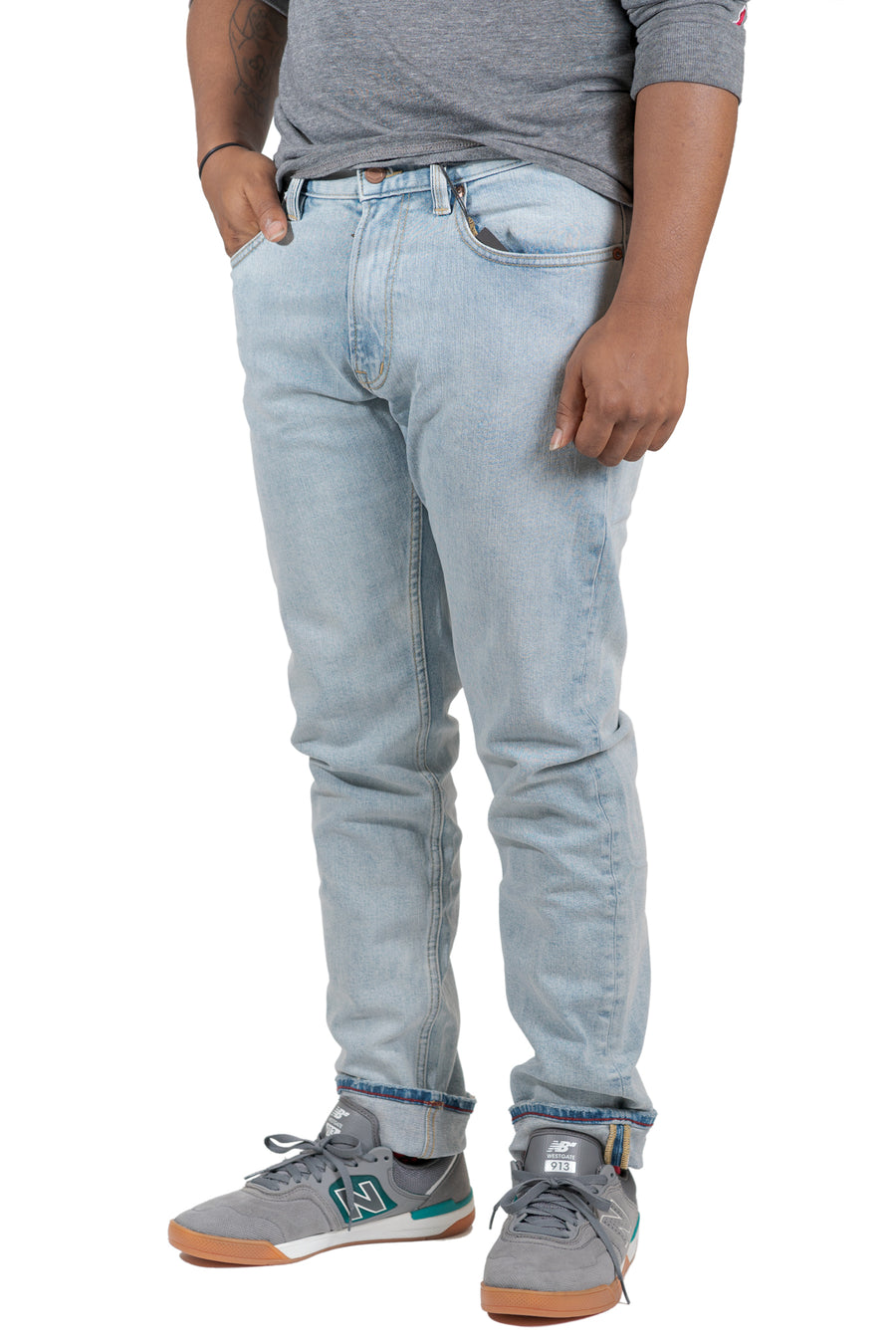 RVCA Daggers Slim Fit Denim Pant - Bleach Party (BHY)