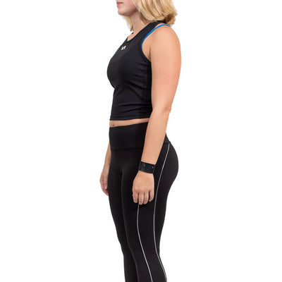 RVCA Edge Sport Crop Top - Black