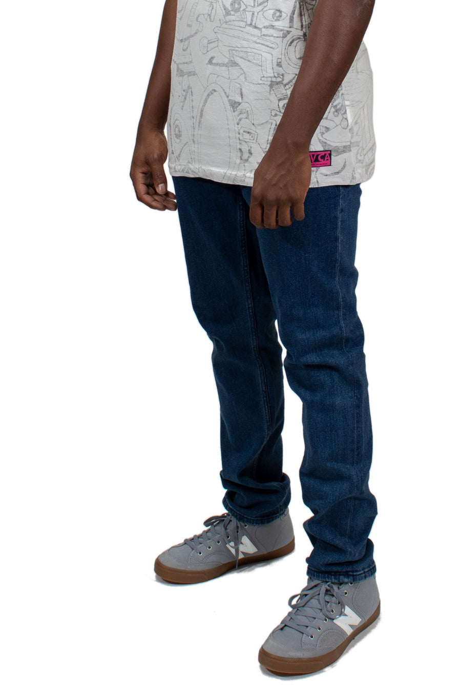 RVCA Hexed Denim Pants - Blue Indigo