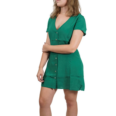 RVCA Guilt Button-up Dress - Evergreen