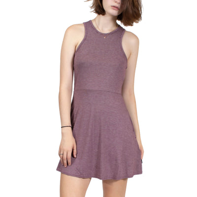 RVCA Iris Tank Dress - Maroon