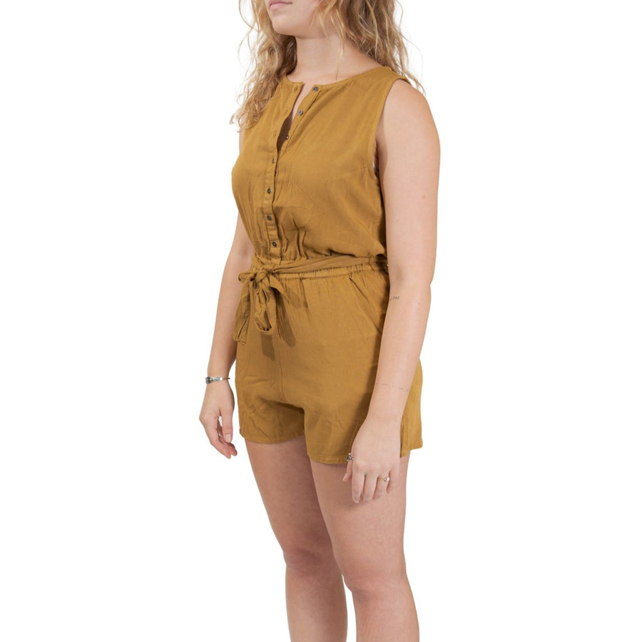 RVCA Latter Lounge Romper - Antique Bronze