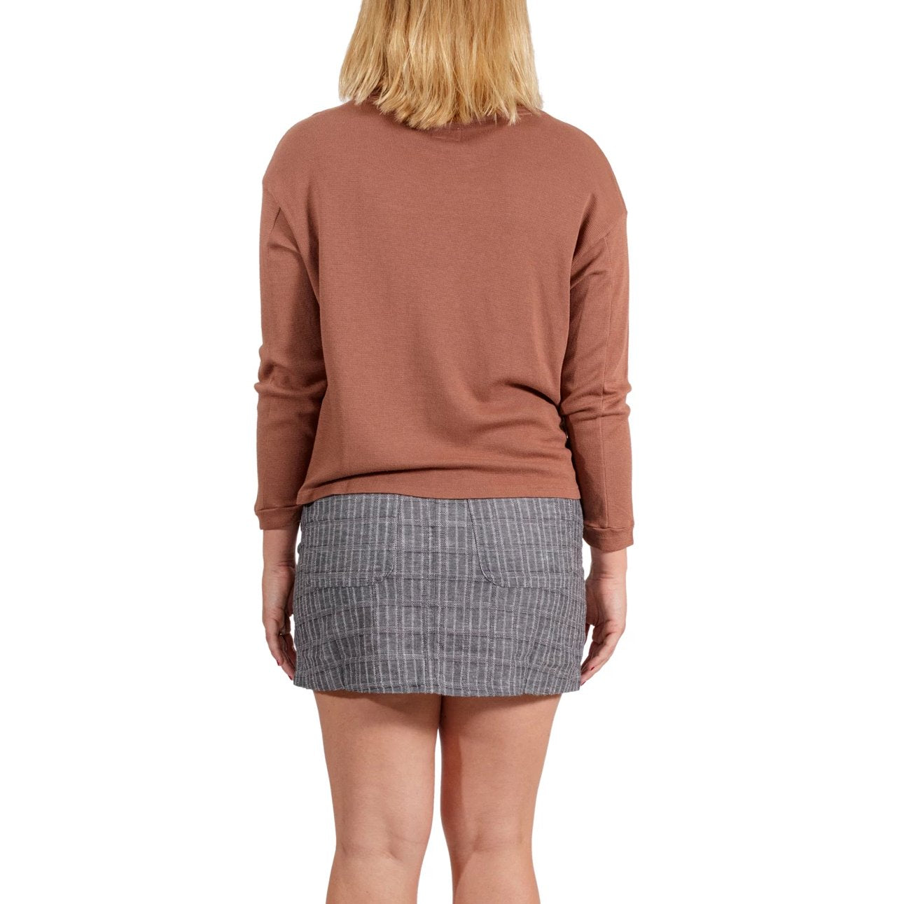 RVCA Lowry Knit Thermal Top - Nutmeg