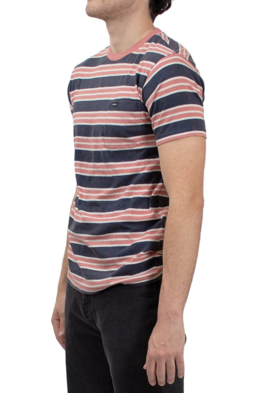 RVCA Lucas Striped Knit T-Shirt - Federal Blue