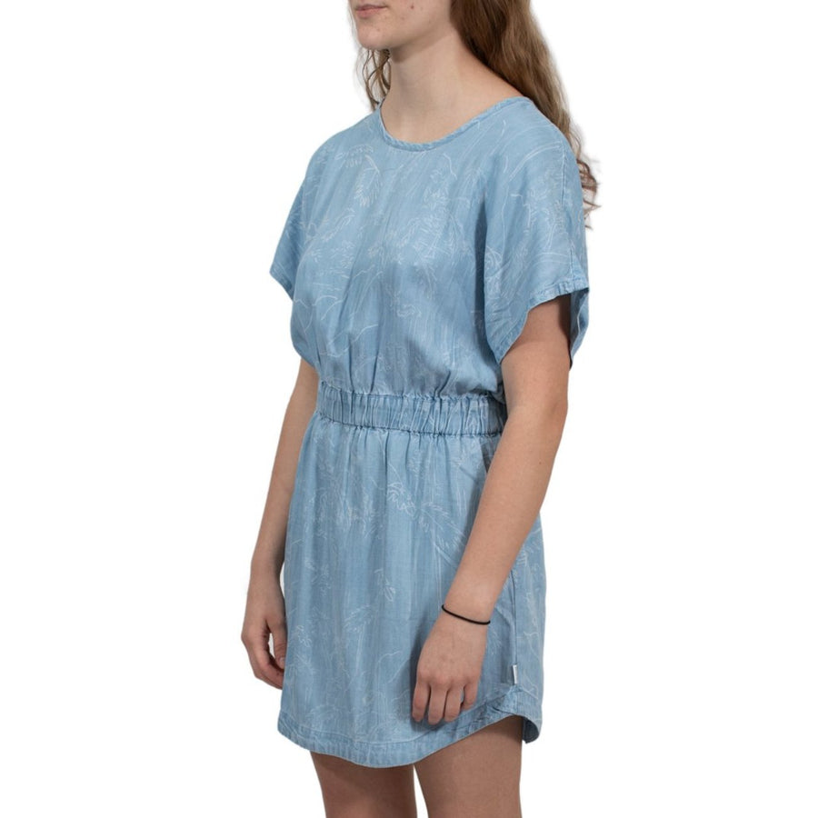 RVCA Nothing Left Printed Chambray Dress