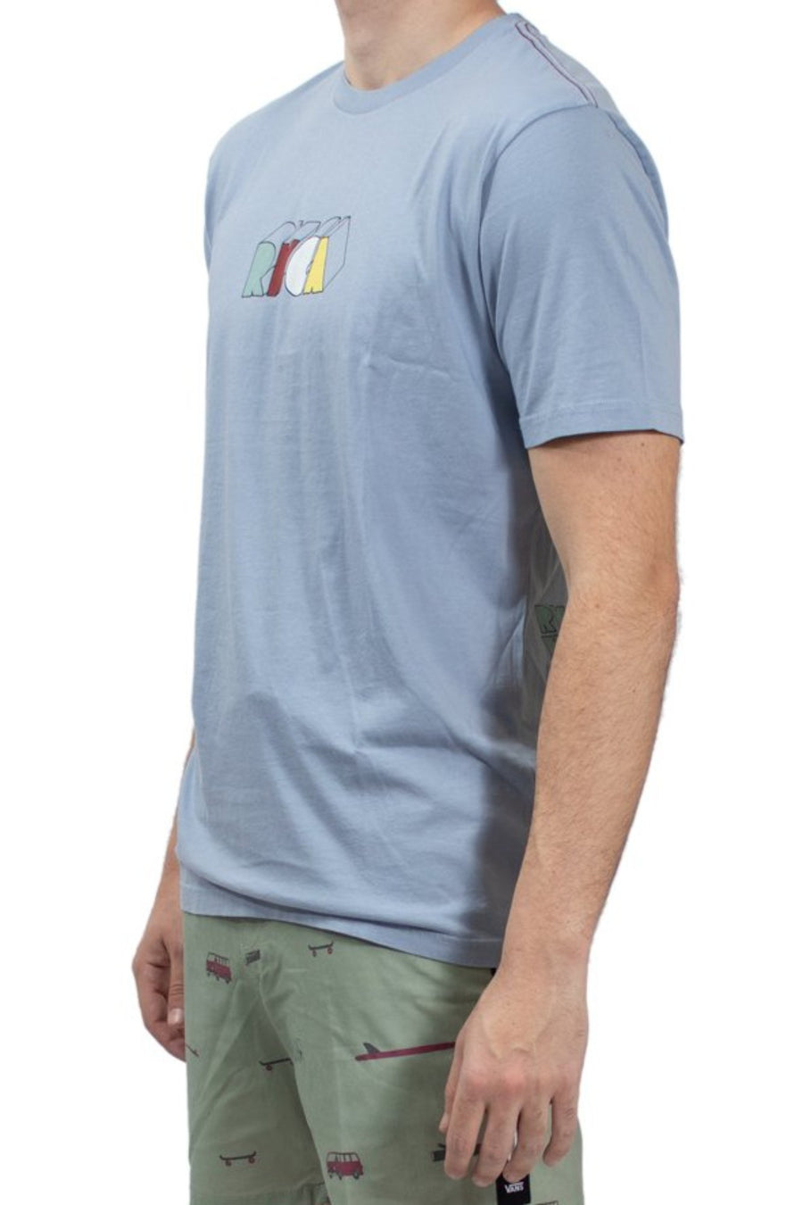 RVCA Perspect T-Shirt - Dusty Blue