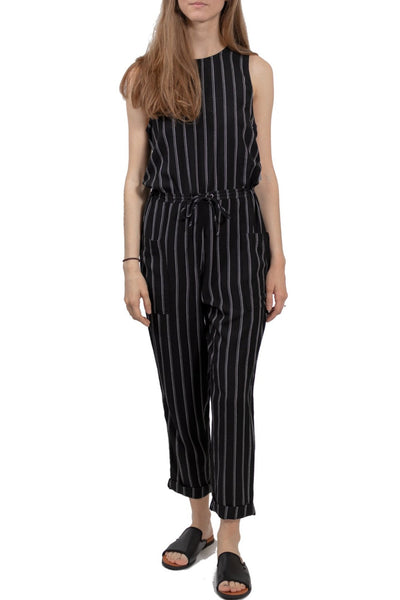 RVCA Pop Out Striped Jumpsuit
