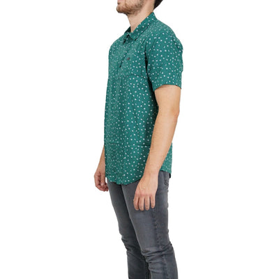 RVCA Prelude Floral SS Button-Up Shirt - Alpine