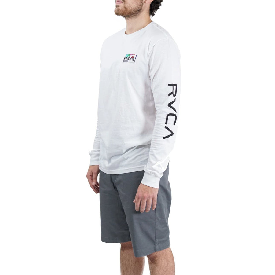 RVCA Testing Long Sleeve Tee - White