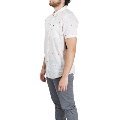 RVCA That'll Do Dobby Button-Up Shirt - White/Red