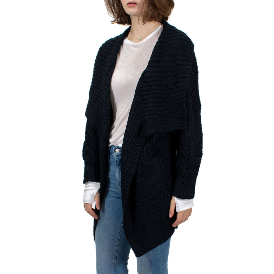 RVCA This is It Oversized Knit Cardigan - Carbon