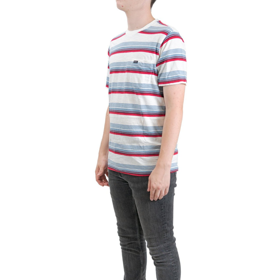 RVCA Ventura Stripe Short Sleeve T-Shirt - Antique White (ANW)