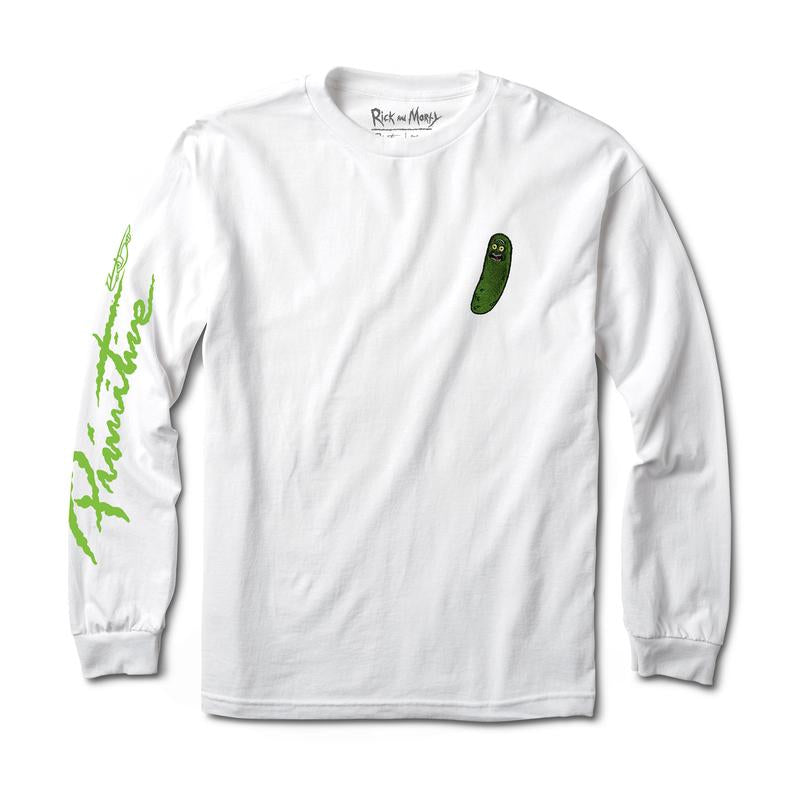Primitive X Rick & Morty Pickle Rick LS Tee - White