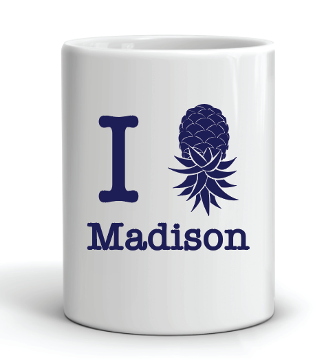 I Pineapple Madison Mug