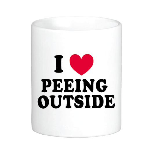 I Heart Peeing Outside Mug