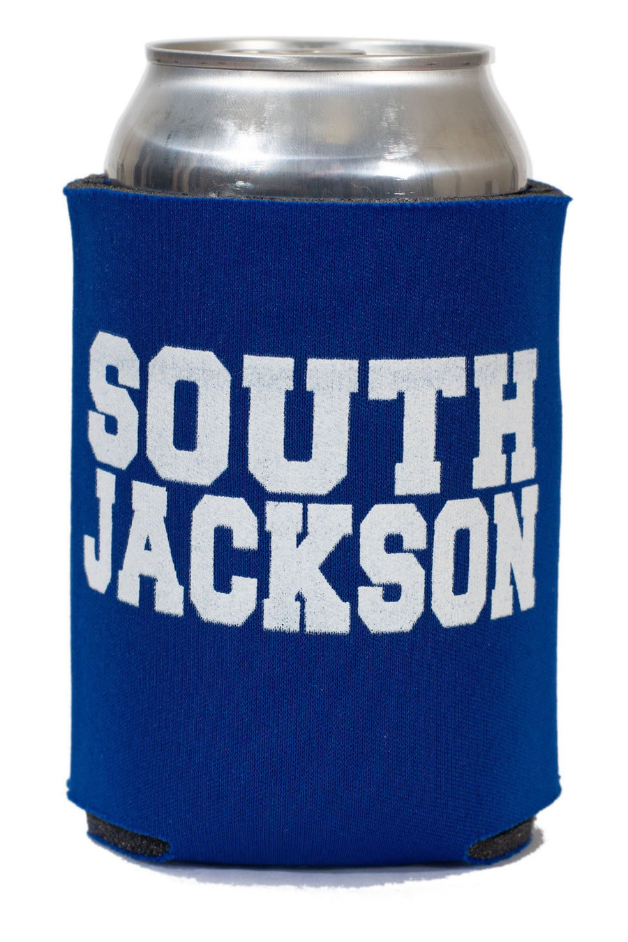 South Jackson Block Letters Koozie