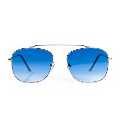 Spitfire Beta Matrix Sunglasses - Silver/Blue Gradient