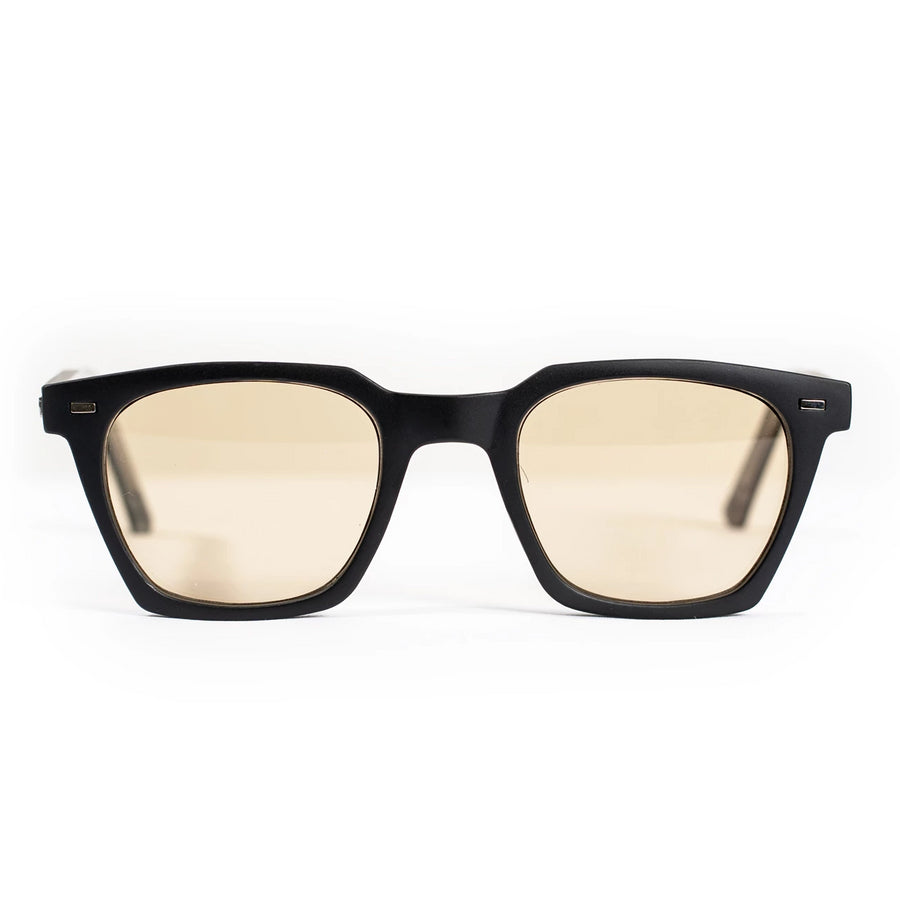 Spitfire Block Chain Sunglasses - Matte Black/Tan