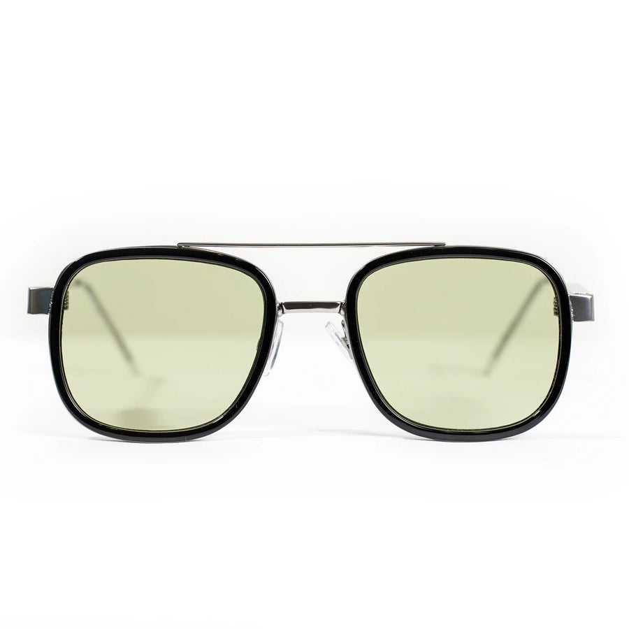 Spitfire DNA4 Sunglasses - Silver/Black/Olive Green