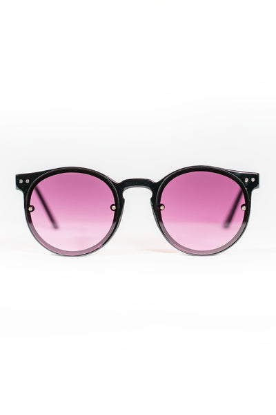 Spitfire Post Punk Sunglasses - Black / Purple