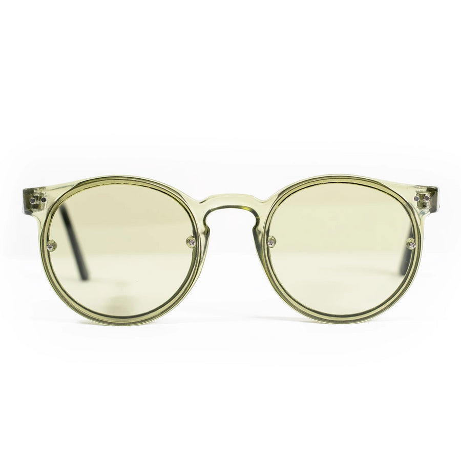 Spitfire Post Punk Sunglasses - Olive Green/Olive Green