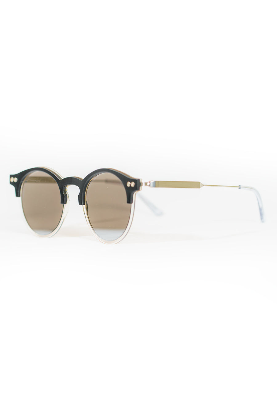 Spitfire Utopia Sunglasses - Matte Black/Clear/Silver Mirror