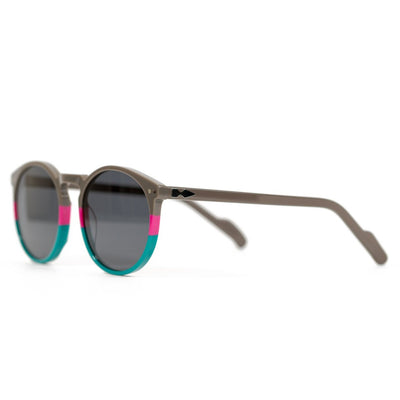 Spitfire Cut Eight Sunglasses - Grey/Pink/Teal/Black