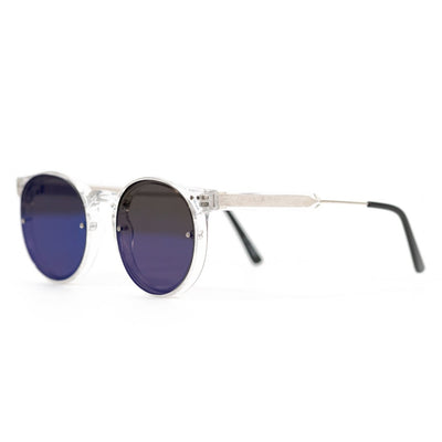 Spitfire Post Punk Sunglasses - Clear/Blue