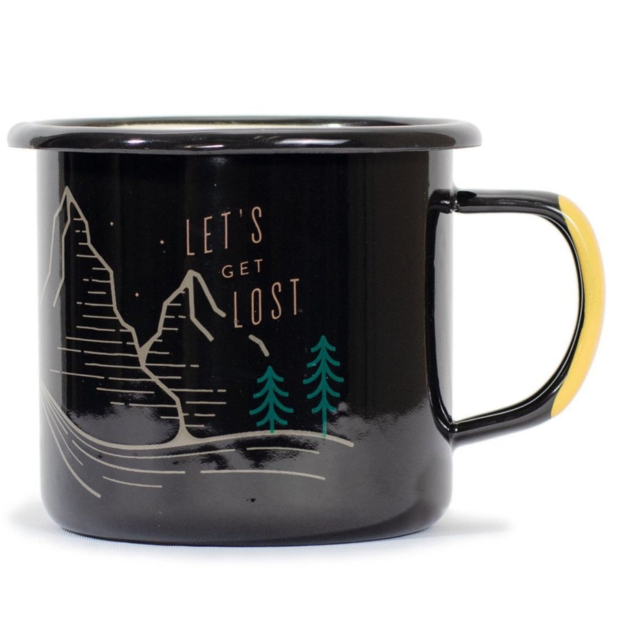 United By Blue 12 oz. Let's Get Lost Enamel Mug