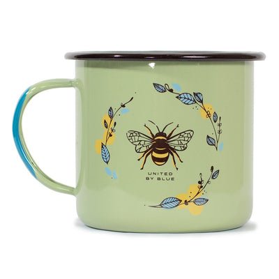 United By Blue 22 oz. Honey Bee Enamel Steel Mug