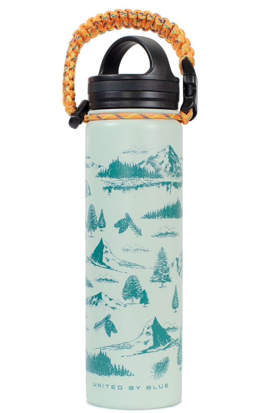 United By Blue 22 oz. Mountain Vista Stainless Steel Water Bottle