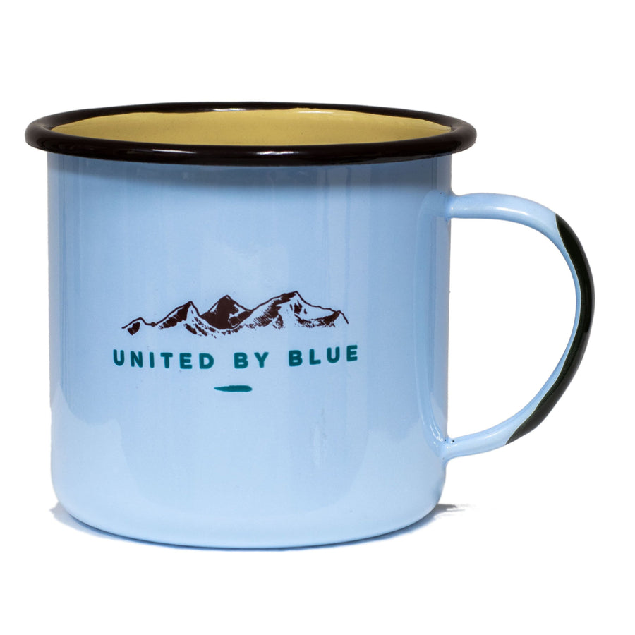 United By Blue 22 oz. Rise & Grind Enamel Steel Mug