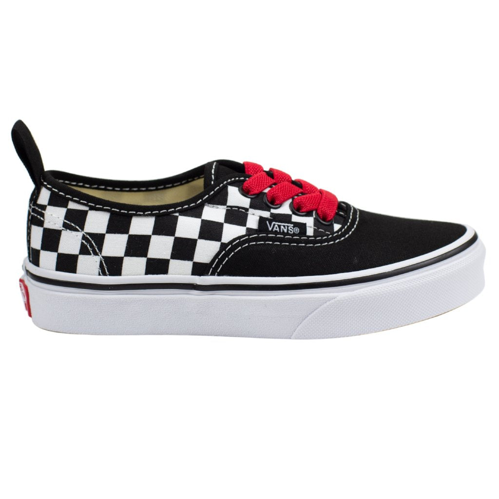 dbc2d9471d34 Vans Authentic Elastic - (Checkerboard) Black Red True White - Chane