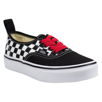 Vans Authentic Elastic - (Checkerboard) Black/Red/True White