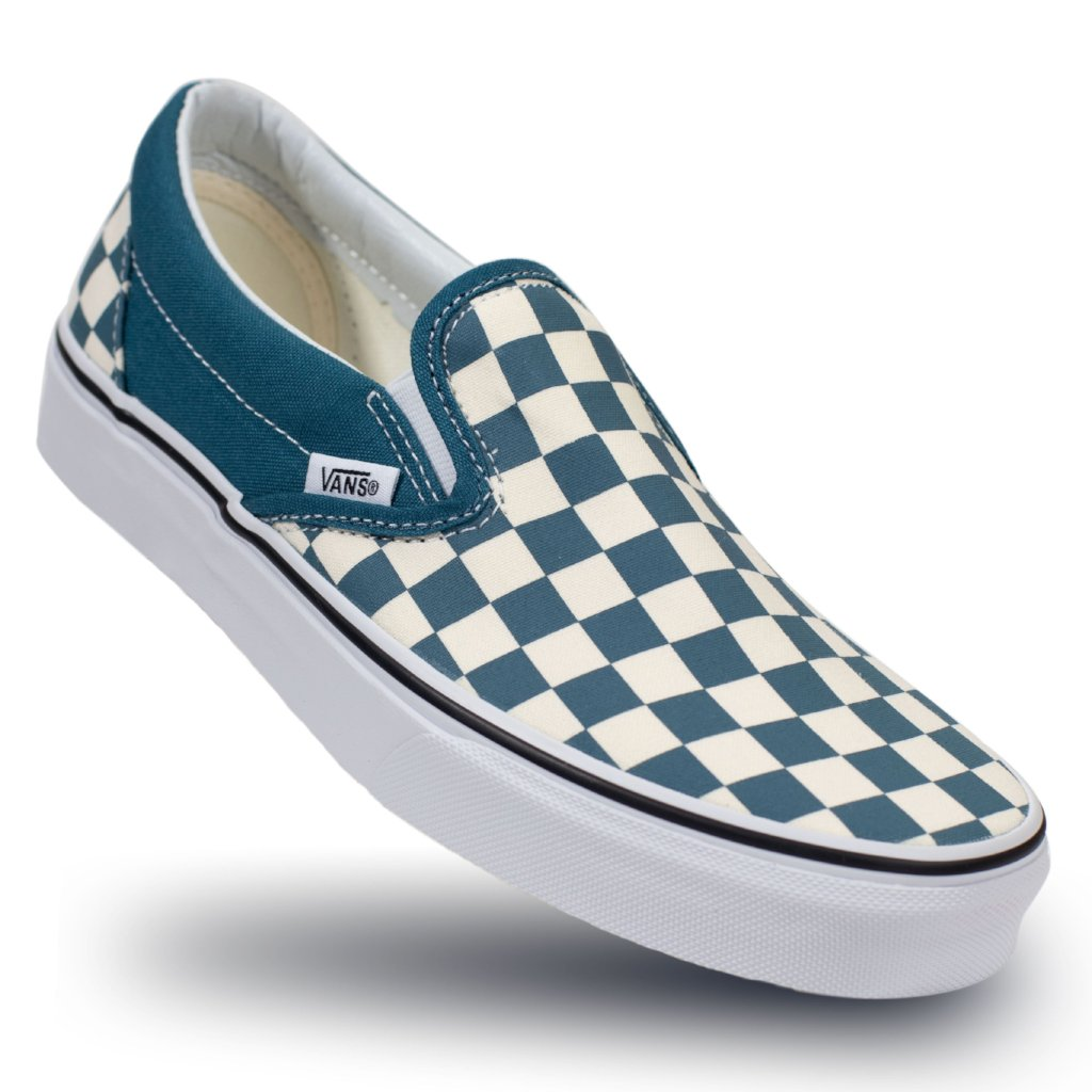 d6a3bcef15a1 Vans Slip-on (Checkerboard) - Corsair True White - Chane