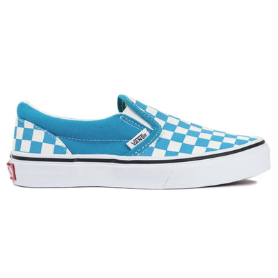 Vans Kids Slip-On - (Checkerboard) Caribbean Blue