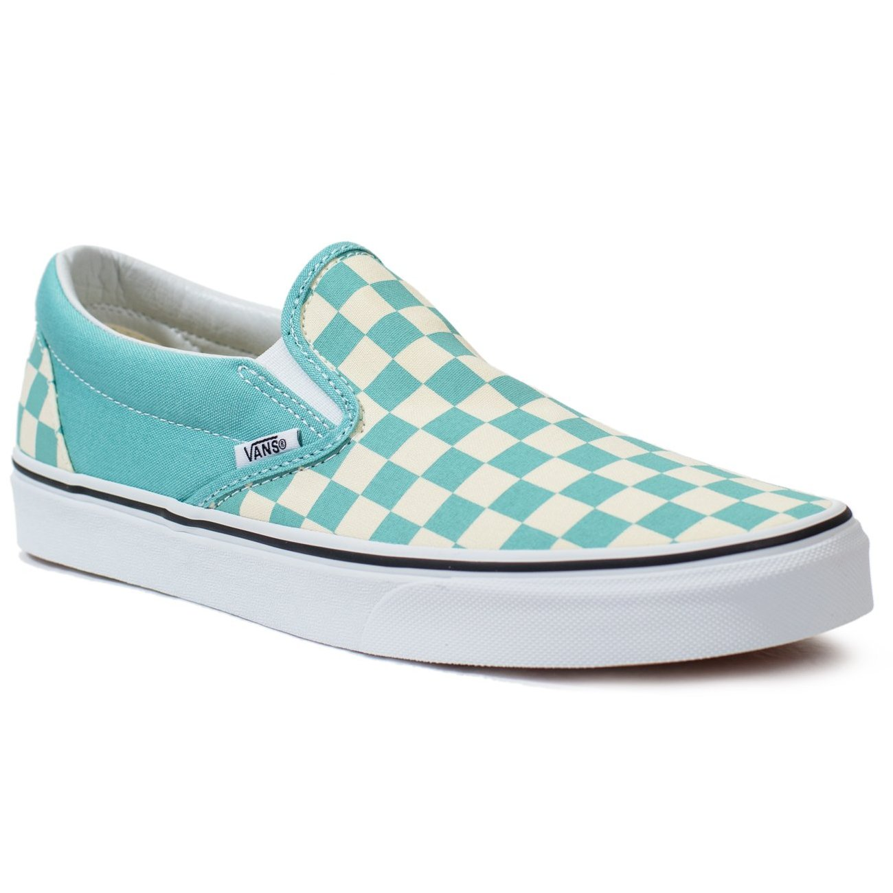 530241252b16f Vans Slip-on (Checkerboard) - Aqua Haze/True White