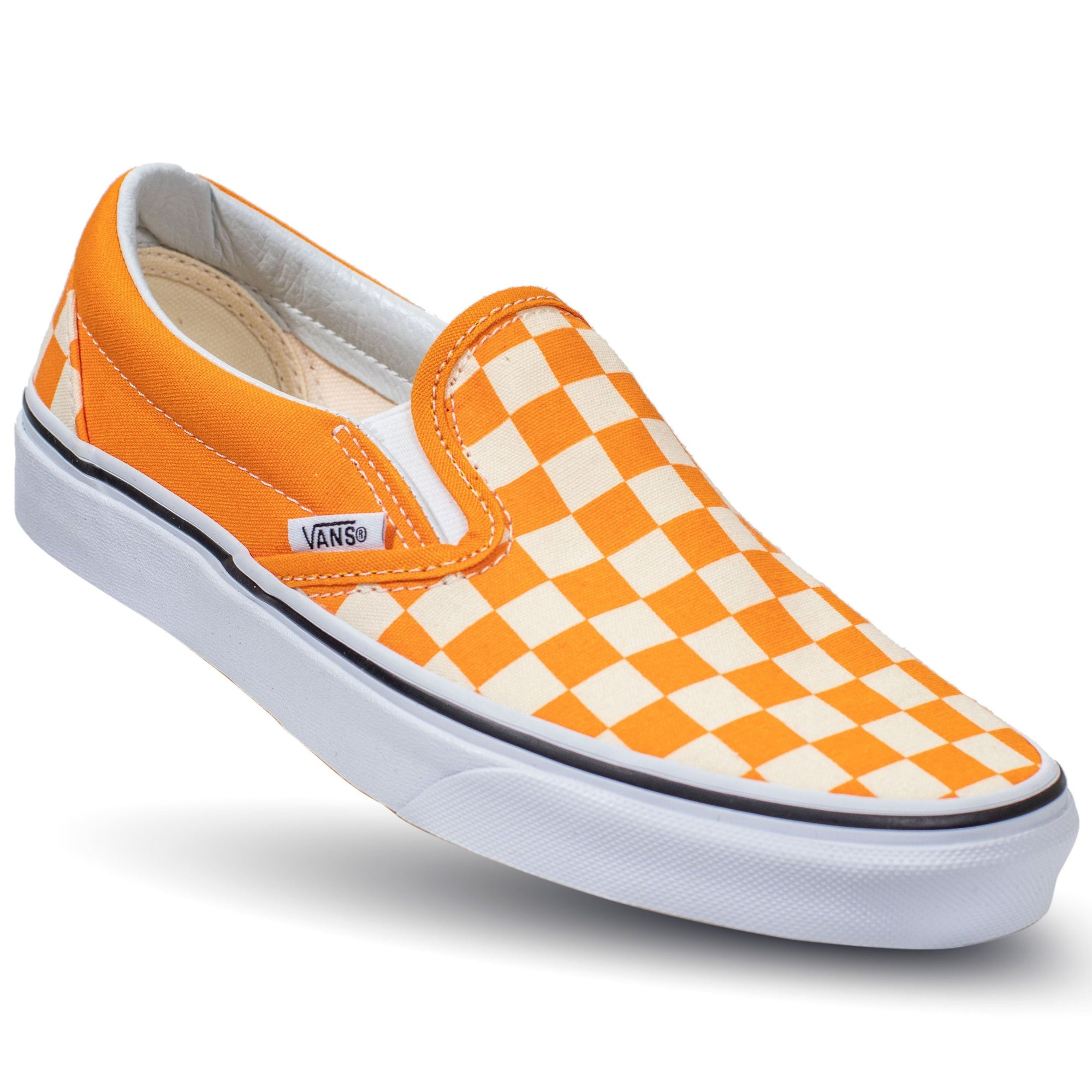 dfc6a2ee3153 Vans Slip-on (Checkerboard) - Dark Cheddar True White - Chane