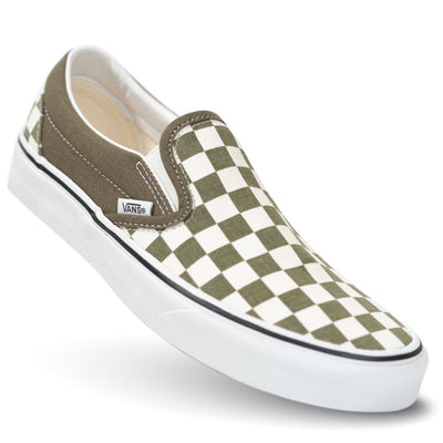Vans Kids Slip-On - (Checkerboard) Grape Leaf/True White