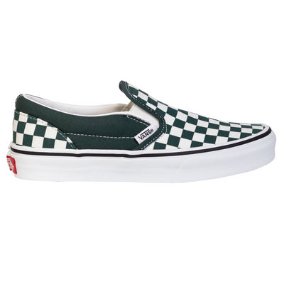 Vans Classic Slip-On - (Checkerboard) Trekking Green/True White