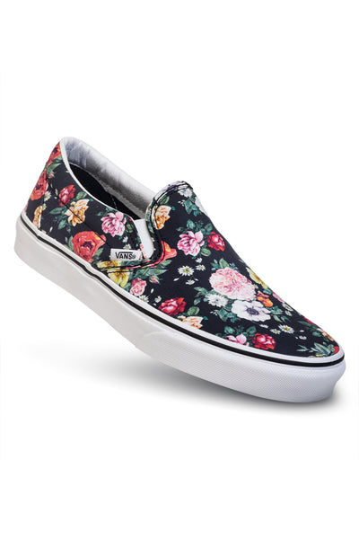 Vans Slip-on - (Garden Floral) Black/True White