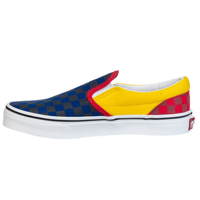 Vans Kids Slip-On - (OTW Rally) Navy/Yellow/Red